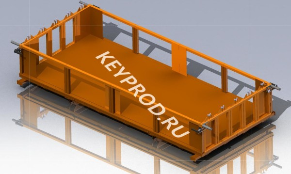 Шаблон резки массива газобетона 3D-модель 1