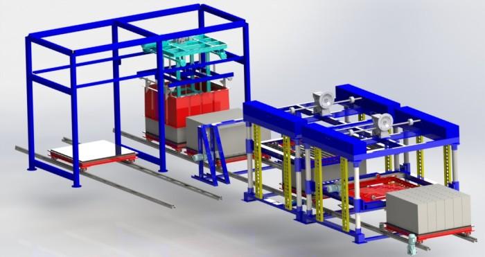 Линия для производства газобетонных блоков midi 01 чертежи скачать 3D-модель