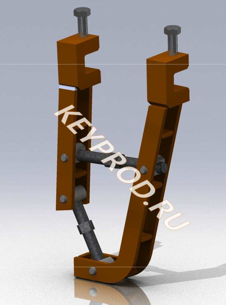 Приспособление для сварки труб (струбцина)