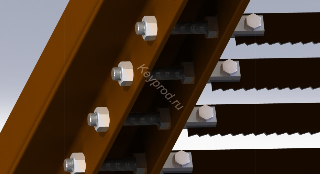 Система натяжки и крепления полотна