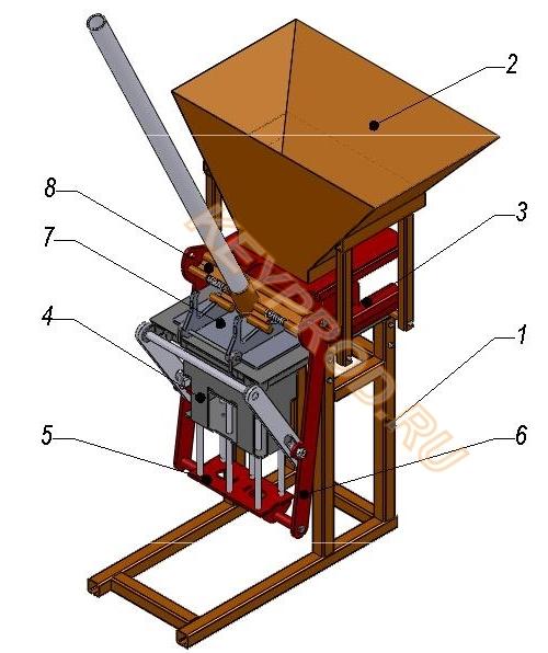 пресс для производства блоков устройство-1