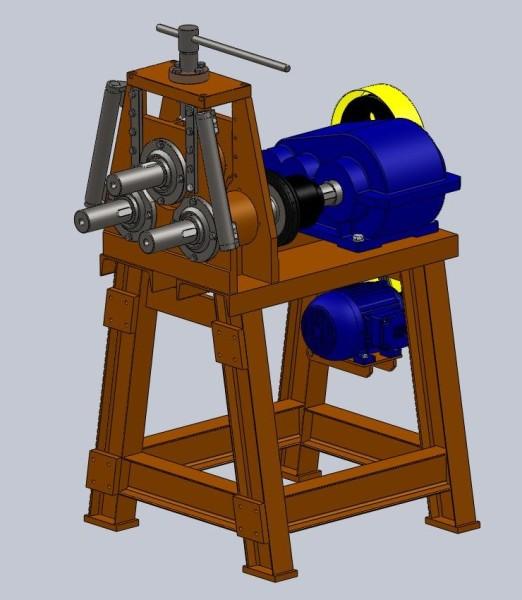 Трубогиб с приводными роликами ТПР 01 чертежи скачать