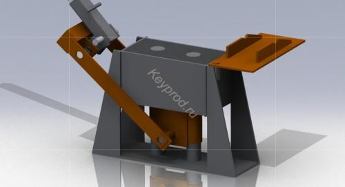 Пресс форма для производства блоков раскрытая