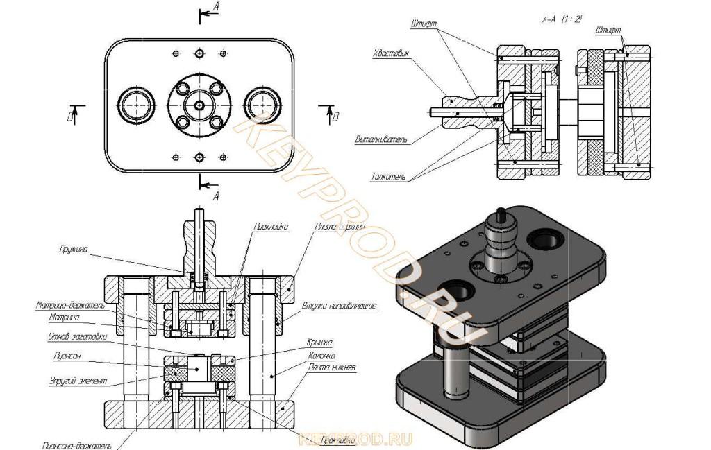 Штамп вырубной ШВ 02 устройство