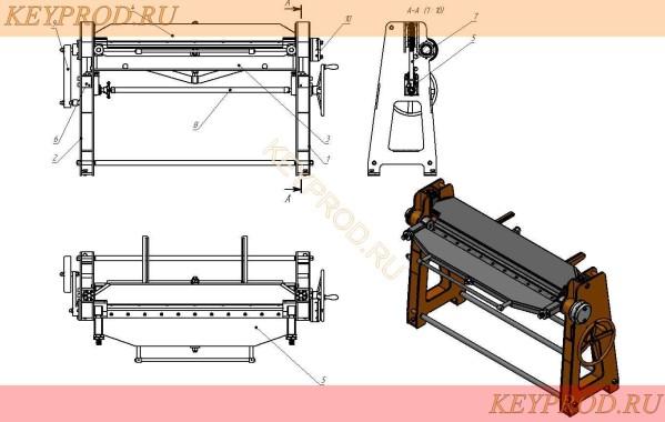 Листогиб ручной ЛР 03 описание