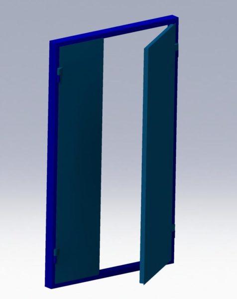 3D-model dver pogarnogo vihoda