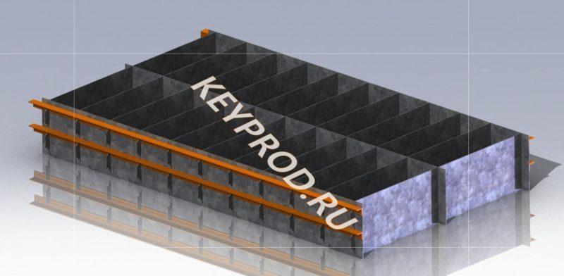 3D-модель и чертежи формы на 20 пеноблоков размером 600х300х200
