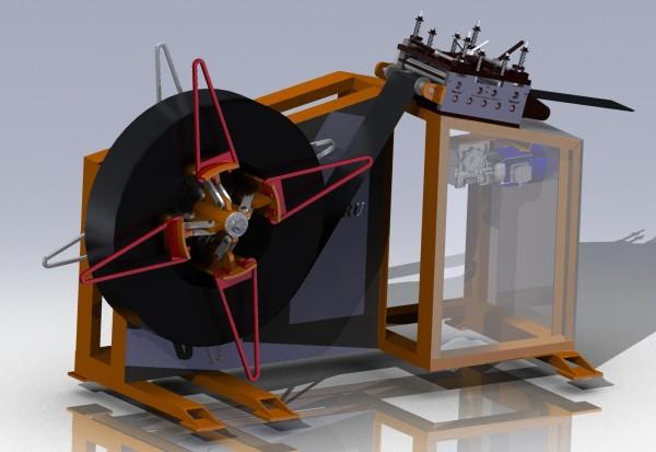 3D-модель размотка равно поправка полосы