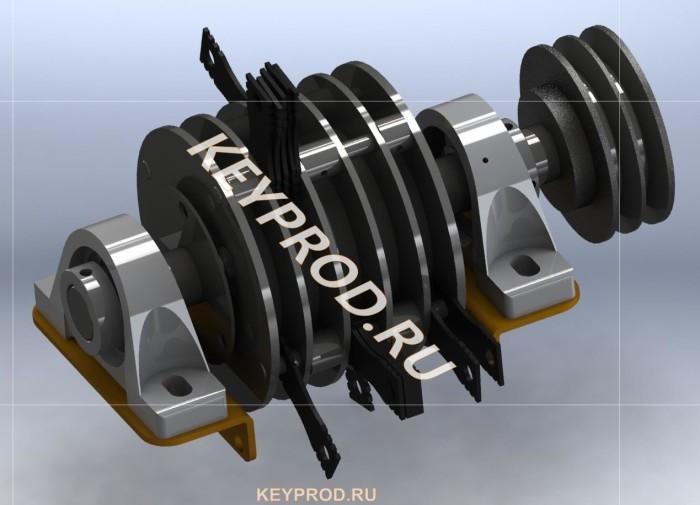 Ротор молотковой дробилки в сборе (2)