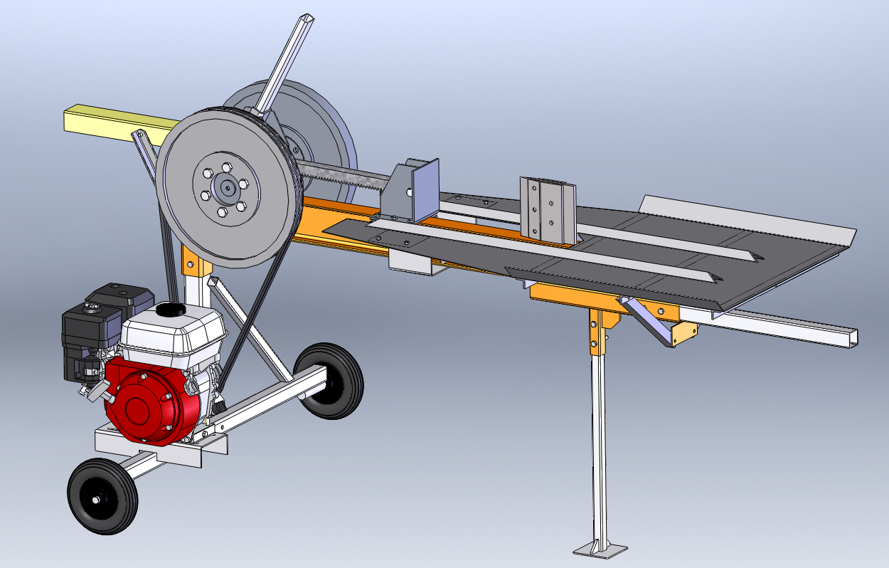 Дровокол реечный 3D-модель