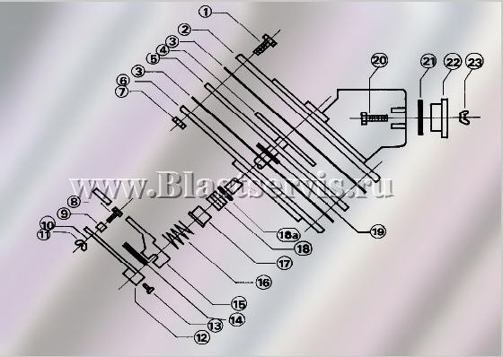 Дозатор абразива FSV схема