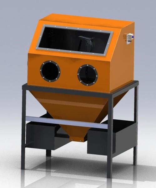 Камера для пескоструйной обработки 3D-модель чертежи