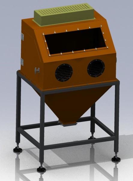 Камера пескоструйной обработки КПО-02 чертежи 3D-модель
