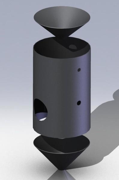 Бак установки пескоструйной обработки деталировка