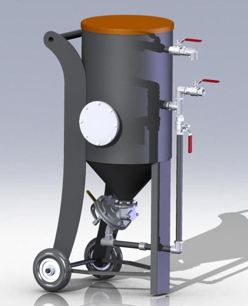 Установка пескоструйной обработки 3D модель чертежи