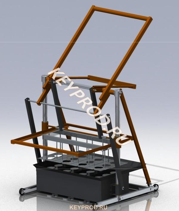 Вибропресс для производства шлакоблоков