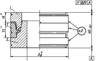 Конструкция и размеры пакетов, для изготовления манжет типа 1