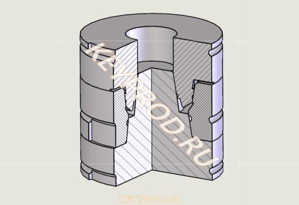 Форма для изготовления манжеты типа 1 1017-3527 чертеж
