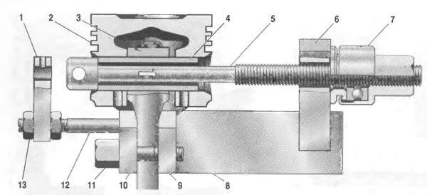 Проверка запрессовки поршневого пальца в верхнюю головку шатуна
