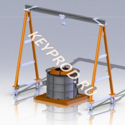 3D-модели и чертежи оборудования для производства железобетонных изделий (ЖБИ)