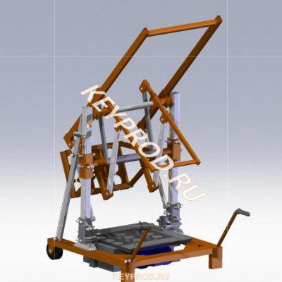 3D-модели и чертежи оборудования для производства строительных блоков и кирпичей