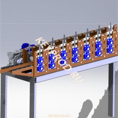 3D-модели и чертежи оборудования для производства евроштакетника