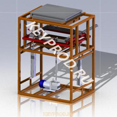 3D-модели и чертежи вакуумно-формовочного оборудования